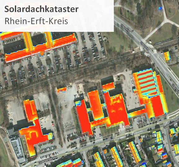 Bild: Solardachkataster für den Rhein-Erft-Kreis